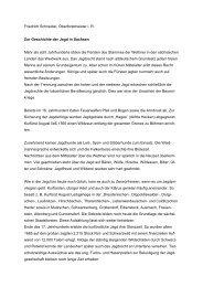 Geschichte der Jagd in Sachsen. - Wald, Forstwirtschaft, Jagd ...