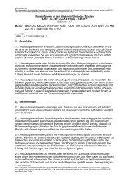 Hausaufgaben an den allgemein bildenden Schulen RdErl. des MK ...