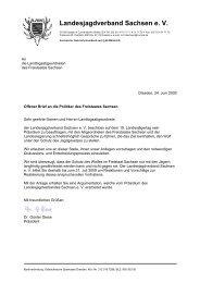 24.06.2009 Offener Brief des LJV Sachsen an - Freundeskreis ...