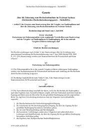Gesetz - Studieren in Sachsen - Freistaat Sachsen
