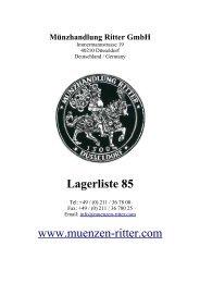 Lagerliste 85 - 2.3_roemische_muenzen - Münzhandlung Ritter GmbH