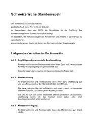 Schweizerische Standesregeln SAV