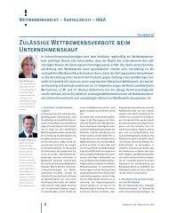 Zulässige Wettbewerbsverbote beim ... - Business & Law