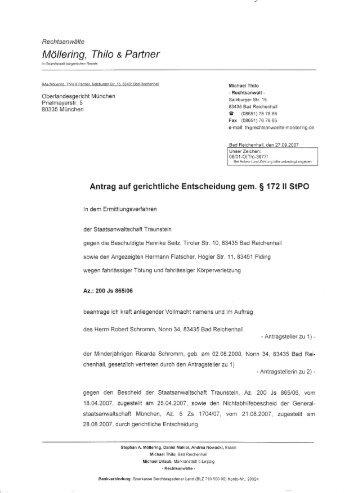 klageerzwingungsverfahren - HOME - Reichenhaller Pranger