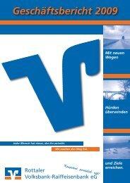 Geschäftsbericht 2009 - Rottaler Volksbank-Raiffeisenbank eG