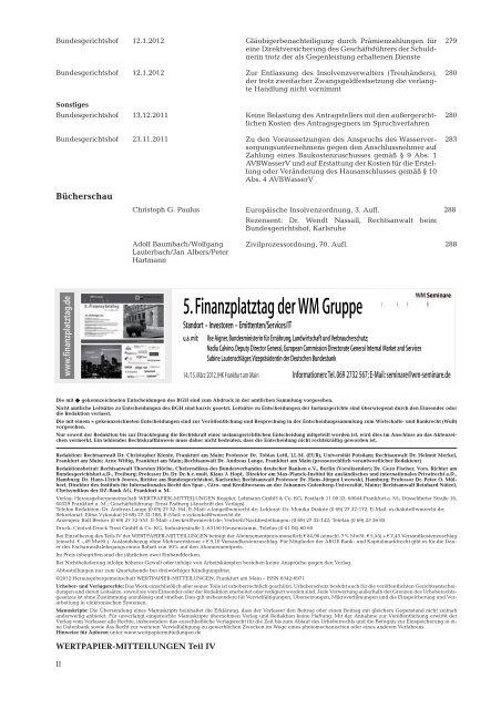 WERTPAPIER- MITTEILUNGEN - WM Wirtschafts