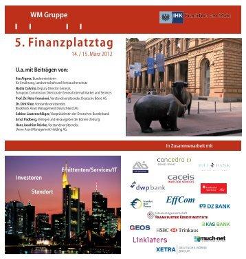 5. Finanzplatztag - Concedro