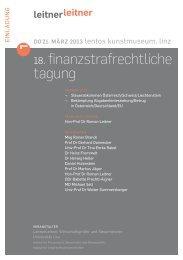 Einladung - Linz - LeitnerLeitner