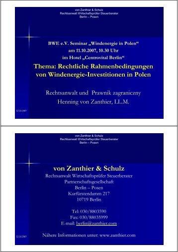 von Zanthier & Schulz - Go Seminare