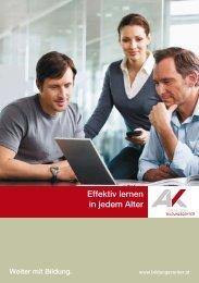 Effektiv Lernen in jedem Alter (pdf 2,5 - AK - Vorarlberg