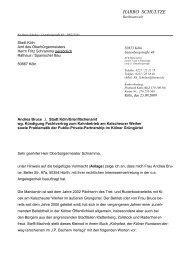 Brief des Rechtsanwaltes von Frau Bruce an den - NaBiS