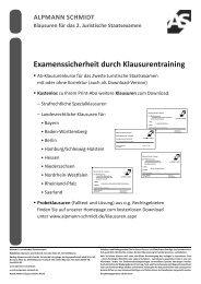 Probeklausuren - Alpmann Schmidt