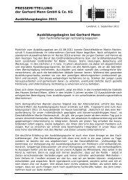 PDF: Pressemitteilung zum Ausbildungsbeginn 2011