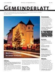 GBM2012 Woche 48 - Gemeinde Mäder