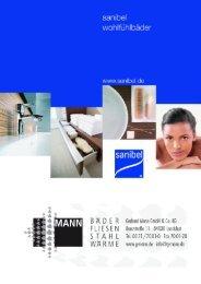 Checkliste Badplanungen - Sanibel - Gerhard Mann GmbH + Co. KG