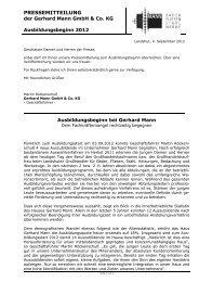 PDF: Ausbildungsbeginn2012 - Gerhard Mann GmbH + Co. KG