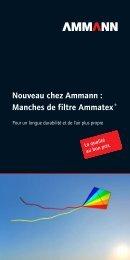Nouveau chez Ammann : Manches de filtre Ammatex ®
