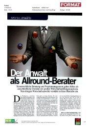 SPECIAL anwälte - pma Projekt Management Austria