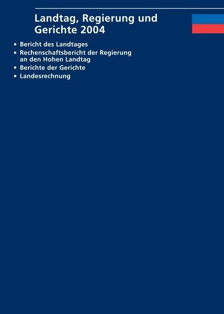 Rechenschaftsbericht_2004.indb - Landesverwaltung Liechtenstein