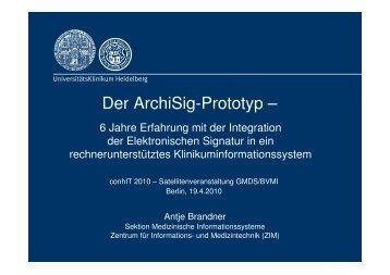 Der ArchiSig-Prototyp - GMDS