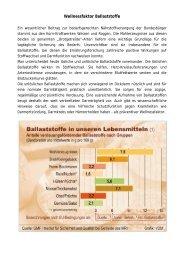 Wellnessfaktor Ballaststoffe - GMF