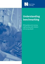 Understanding benchmarking. RCN guidance for nursing staff ...