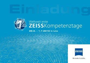 ZEISSKompetenztage - Carl Zeiss