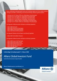 Allianz Global Investors Fund - Stockselection GmbH