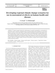 Developing regional climate change scenarios for use in ...