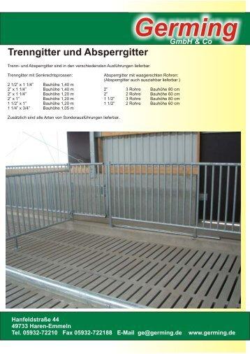 Germing GmbH & Co Trenngitter und Absperrgitter