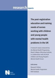 The post registration and education training needs of - RCN