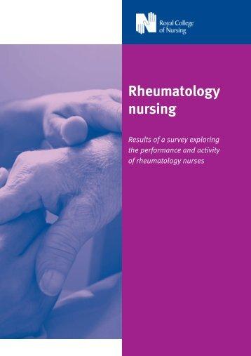 Rheumatology nursing: results of a survey exploring the ... - RCN