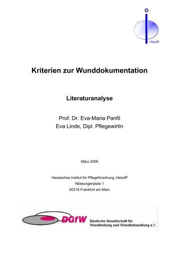 Kriterien zur Wunddokumentation - Deutsche Gesellschaft für ...