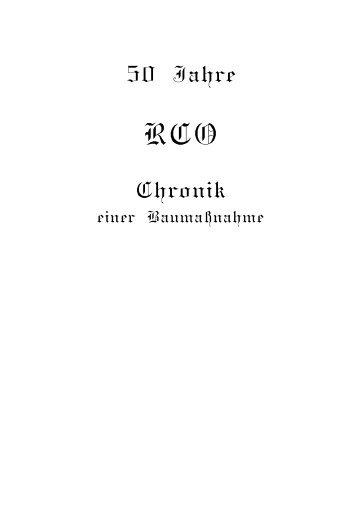 Chronik - Reit-Club Oberhausen
