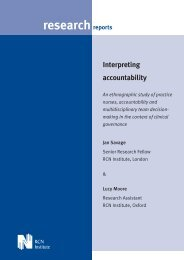 Interpreting accountability: an ethnographic study of practice ... - RCN