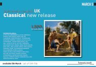 Classical new release - Harmonia Mundi UK Distribution