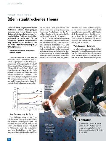 (K)ein staubtrockenes Thema - Deutscher Alpenverein