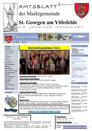 Dienstag, 30. August 2011 von 14 – 16 Uhr Ort - Marktgemeinde St ...