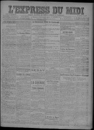 SAMEDI 30 JANVIER 1915 I 253 ANNÉE - Mairie de Toulouse