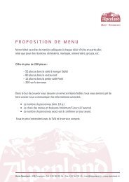 Proposition de menu - Hotel Alpenland