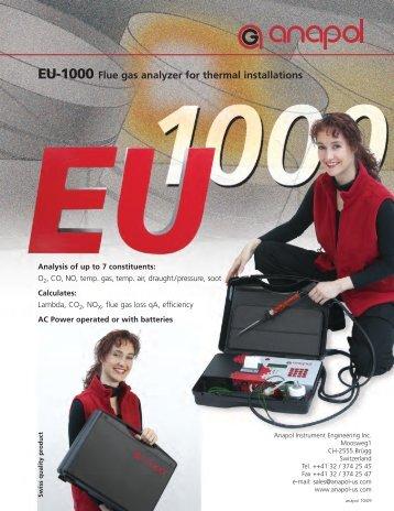 EU-1000 Flue gas analyzer for thermal installations