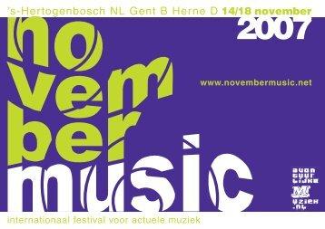 's-Hertogenbosch NL Gent B Herne D - November Music