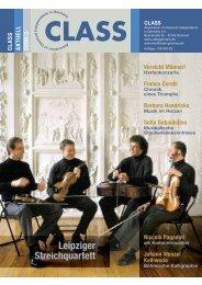 Leipziger Streichquartett - CLASS - Association of Classical ...