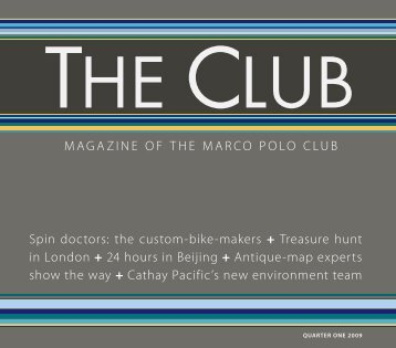 MAGAZINE OF THE MARCO POLO CLUB Spin ... - Cathay Pacific