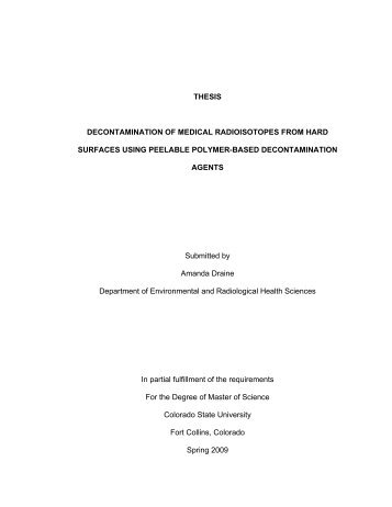 Decontamination of Medical Radioisotopes from Hard Surfaces Using