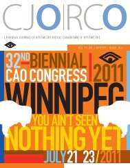 Vol. 73, No. 1, 2011 - The Canadian Association of Optometrists