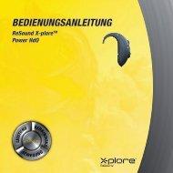 X-plore XE80 Benutzerhandbuch - GN ReSound GmbH