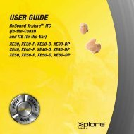 Xplore XE30/40/50 user guide - ReSound