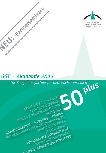 Schulungskatalog 2011 im PDF-Format - GGT Deutsche ...