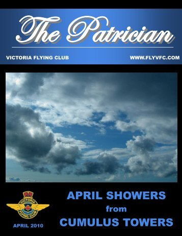 APRIL SHOWERS CUMULUS TOWERS - Victoria Flying Club